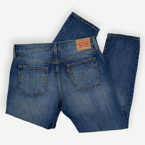 Levi's High Rise 501Tapered Cut Jeans Vintage Inspired Dark Wash Men's
